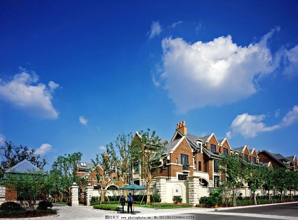 欧式别墅 欧式建筑 欧式小区 地中海风格 地中海建筑 小区大门