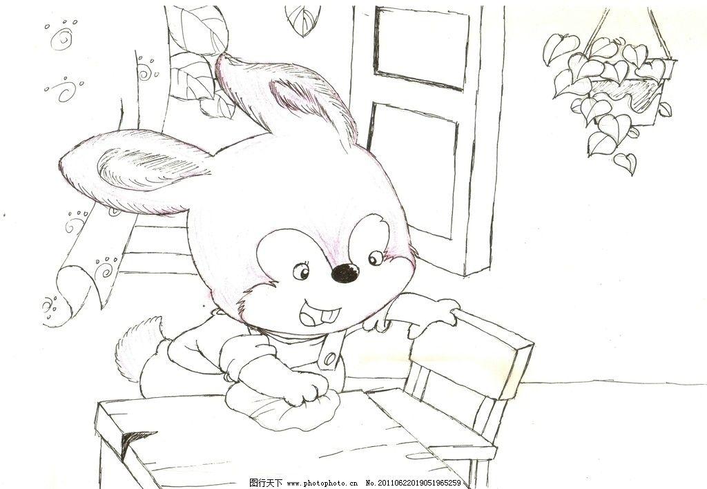 站着兔子的简笔画步骤