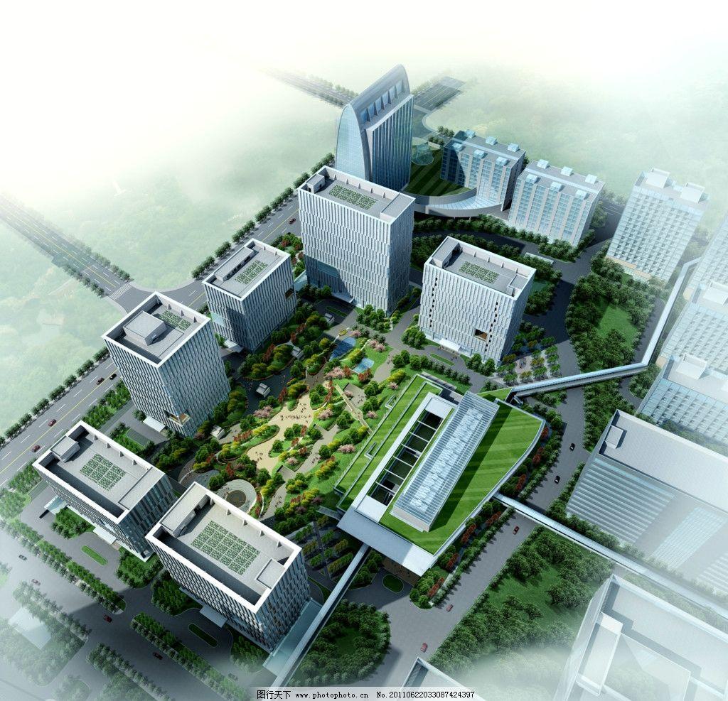 小区模型 住宅模型 公建效果图 酒店效果图 宾馆效果图 仿古酒店 古建