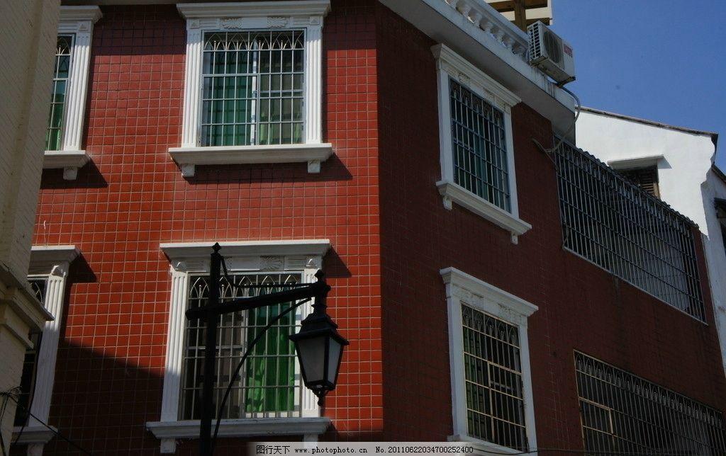 经济型别墅 红墙