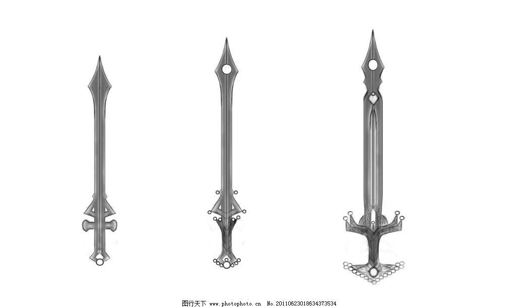 ps绘制的剑 ps 绘画 刀 枪 剑 其他 动漫动画 设计 100dpi jpg