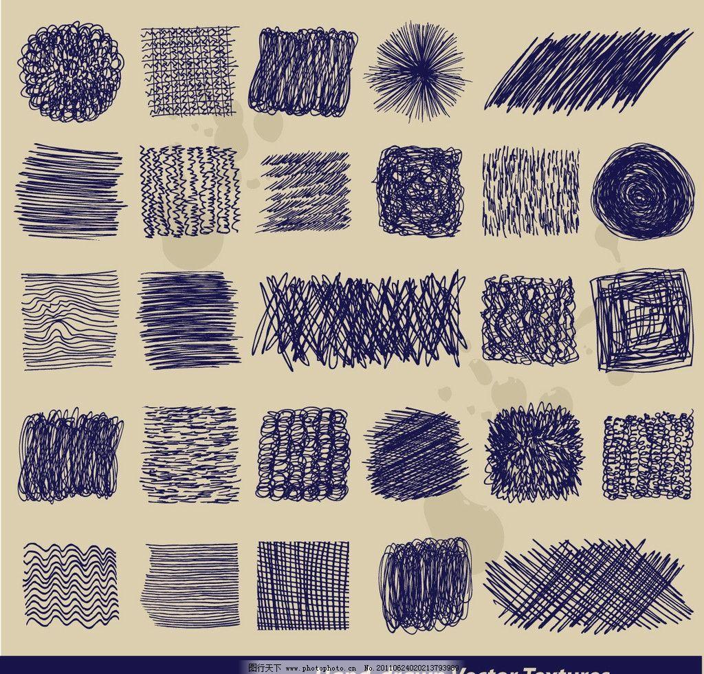 涂鸦背景矢量素材 手绘线条 涂鸦 圈圈 线条 杂乱线条 底纹背景 矢量