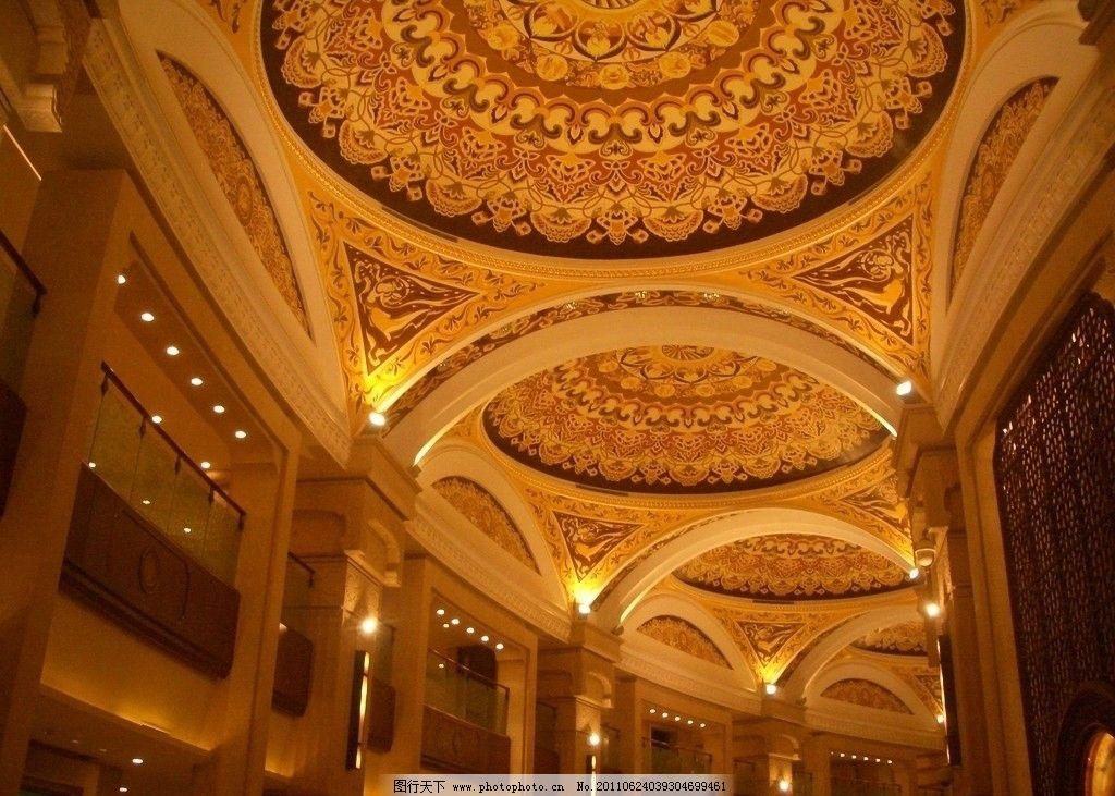 室内建筑 屋顶设计 佛教 宝殿 欧式 罗马 巴洛克 室内摄影 建筑园林