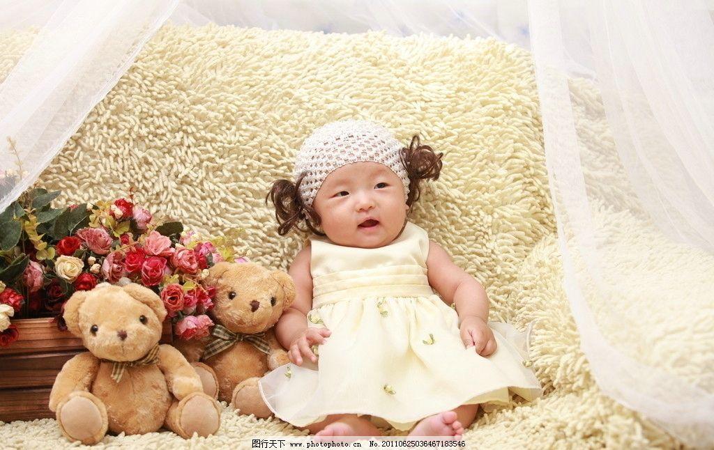 可爱宝宝 可爱 机灵 婴儿 幼儿 女宝宝 孩子 宝宝百天照 儿童幼儿