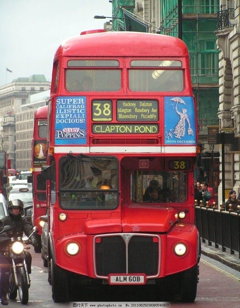 伦敦双层巴士 伦敦街道 伦敦风景 双层巴士 英国风景 交通工具 现代