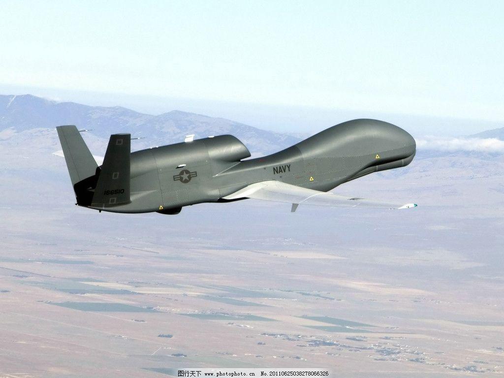全球鹰 侦察机 无人机 战斗机 飞机 高空 俯视 战斗 载弹 攻击武器