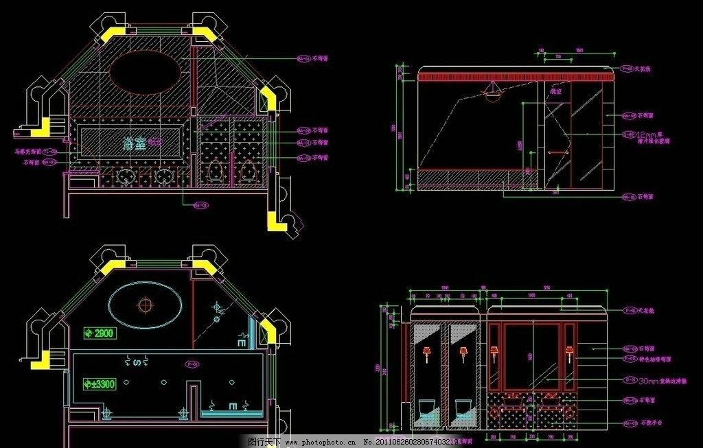 cad 图纸 平面图 素材 装修 装饰 施工图 立面图 剖面图 室内设计