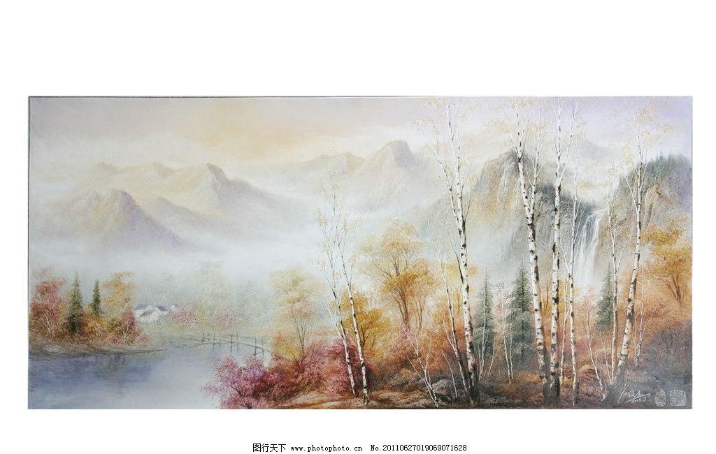 金秋白桦 白桦树 中国刀画 绘画书法 文化艺术 设计 254dpi jpg