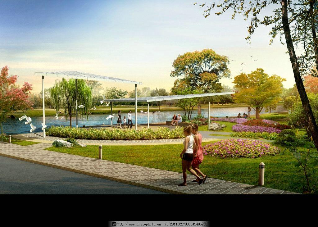 景观设计图片,建筑效果图 鸟瞰素材 园林 绿化 爬藤