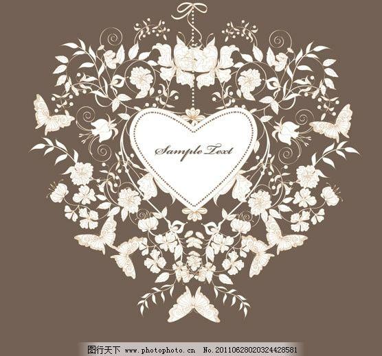 丝带 婚礼 婚庆 贺卡 请柬 浪漫 温馨 背景 eps 矢量素材 欧式边框