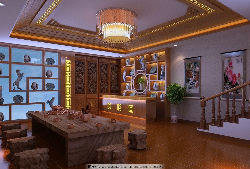 大廳 茶室效果圖 茶室吊頂效果圖 茶室 室內設計 環境設計 設計 180dp