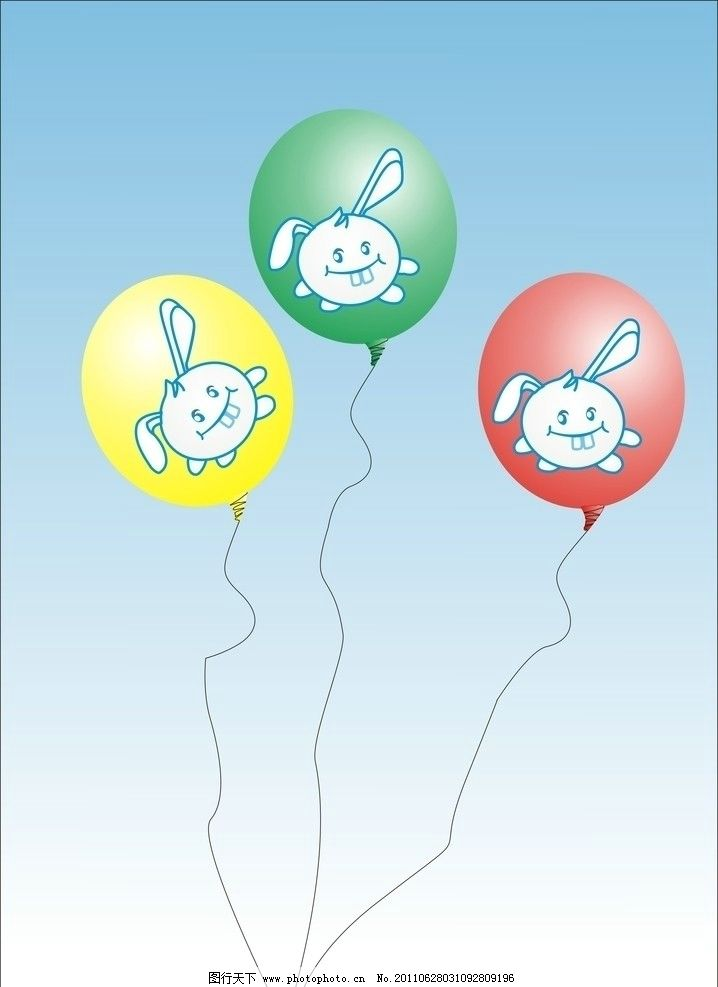 龅牙兔气球 矢量龅牙兔 小动物 气球 其他设计 广告设计 矢量 cdr