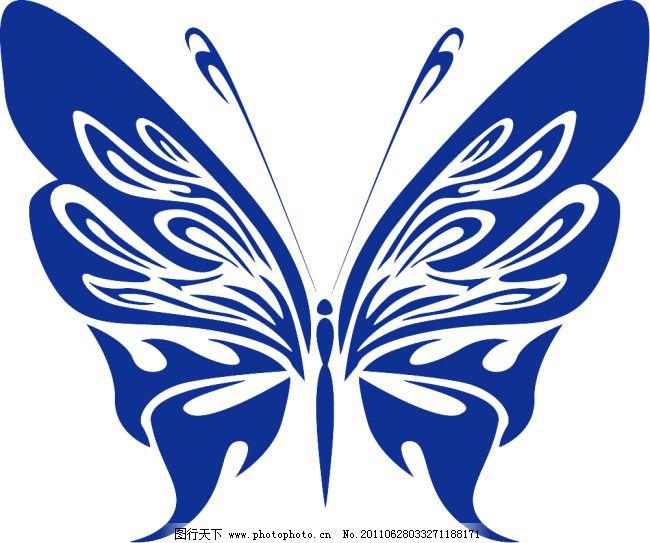 蝴蝶矢量图 psd格式