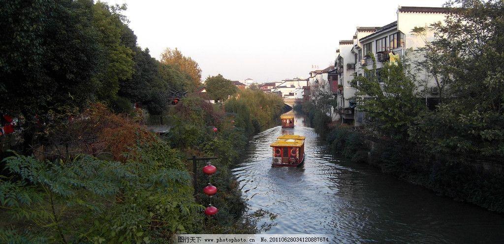 秦淮河 南京 游船 复古建筑 灯笼 自然风景 旅游摄影