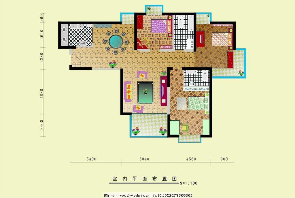 室内平面图 室内装修 装修 建筑原况平面图 室内设计 建筑家居 矢量 c
