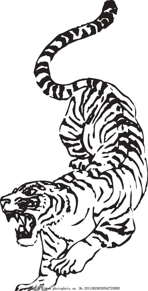 虎虎生威 老虎头 ps 老虎 动物 动物抽象画 卡通设计 广告设计 矢量 c