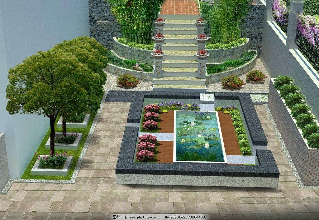 庭院小景设计图片