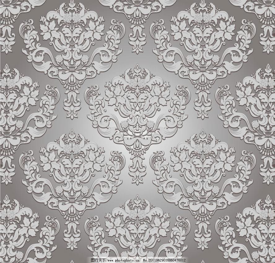 无缝古典花纹欧式花纹 时尚 潮流 梦幻 圆形 对称 均匀 线条 欧式