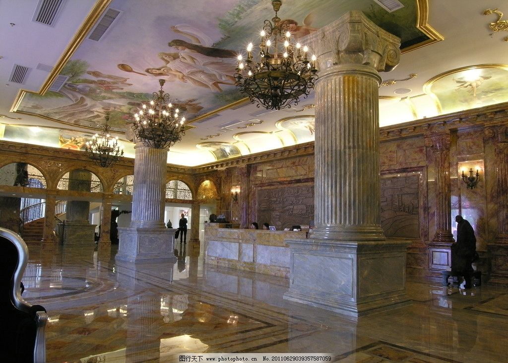 石材装饰 酒店大堂 石材 装饰 酒店 大堂 柱子 室内摄影 建筑园林