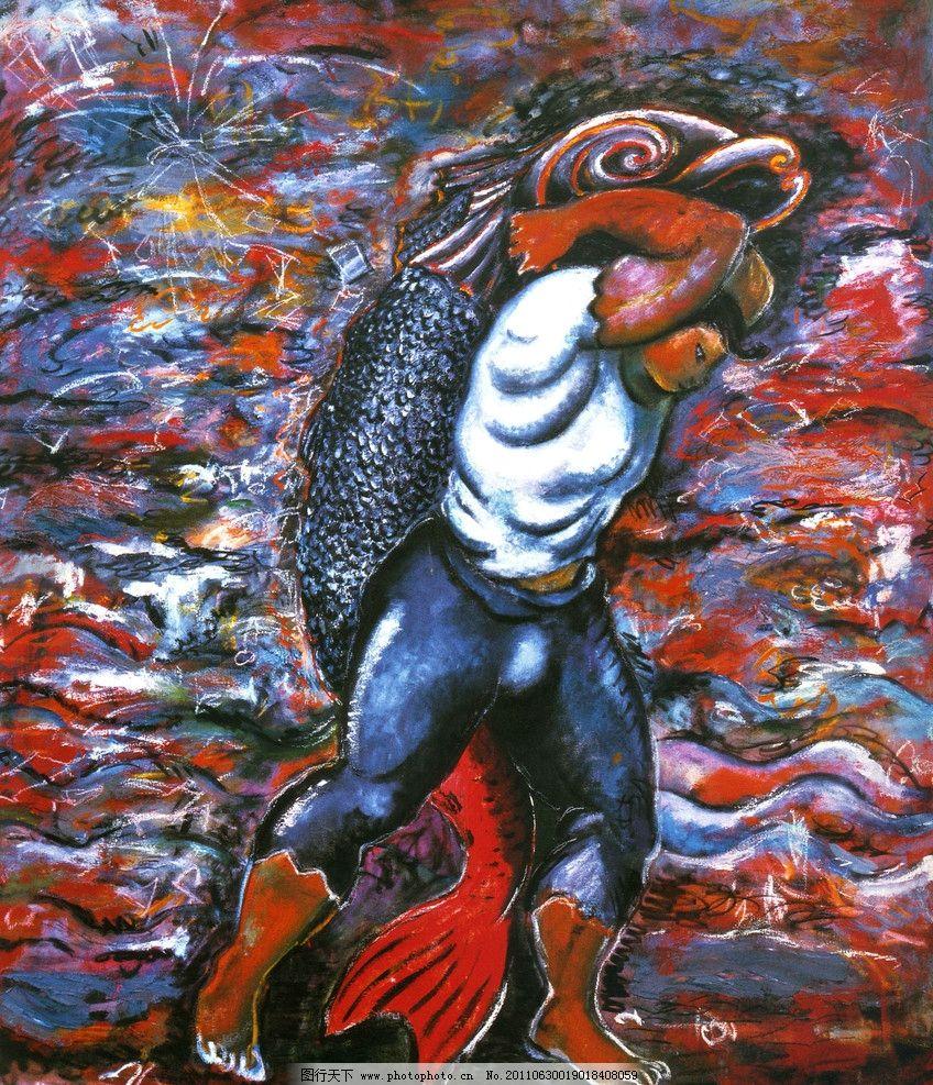捕鱼 抽象画 油画人物 古典人物画 欧洲名画 毕加索油画 大海捕鱼画