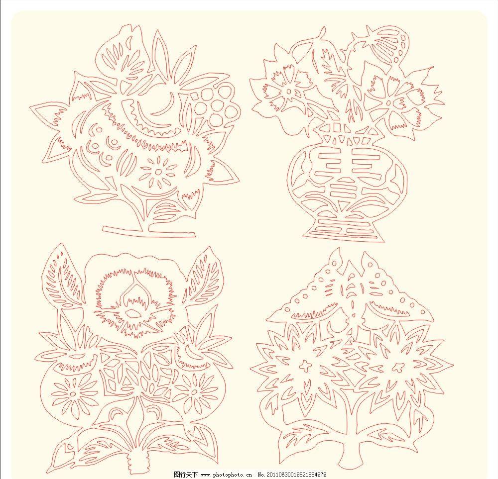 窗花 玻璃贴 节日 春节 底纹 喜庆 背景 剪纸 庆典 素材 花边 花纹