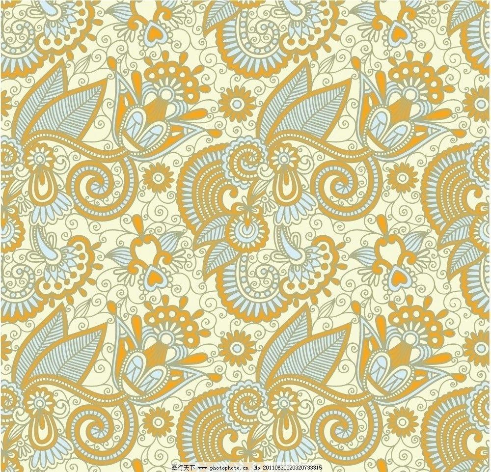 欧式古典花纹 古典 花纹 花边 花朵 花卉 手绘花纹 线描 纹样 布纹 底