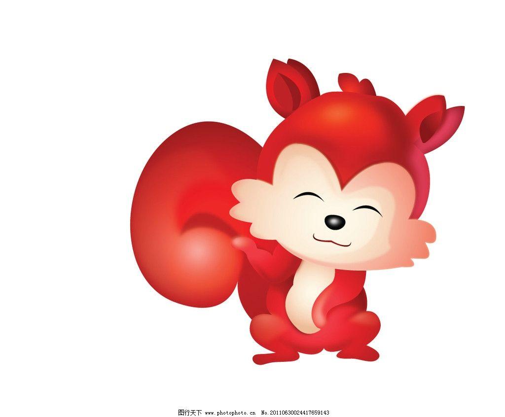 小狐狸 狐狸 红 可爱 小动物 卡通动物 卡通矢量 野生动物 生物世界