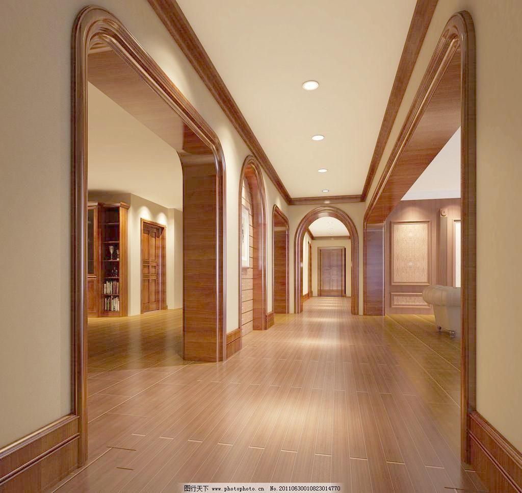 欧式过道效果图 别墅设计 酒店设计 欧式别墅 欧式门框 欧式线条