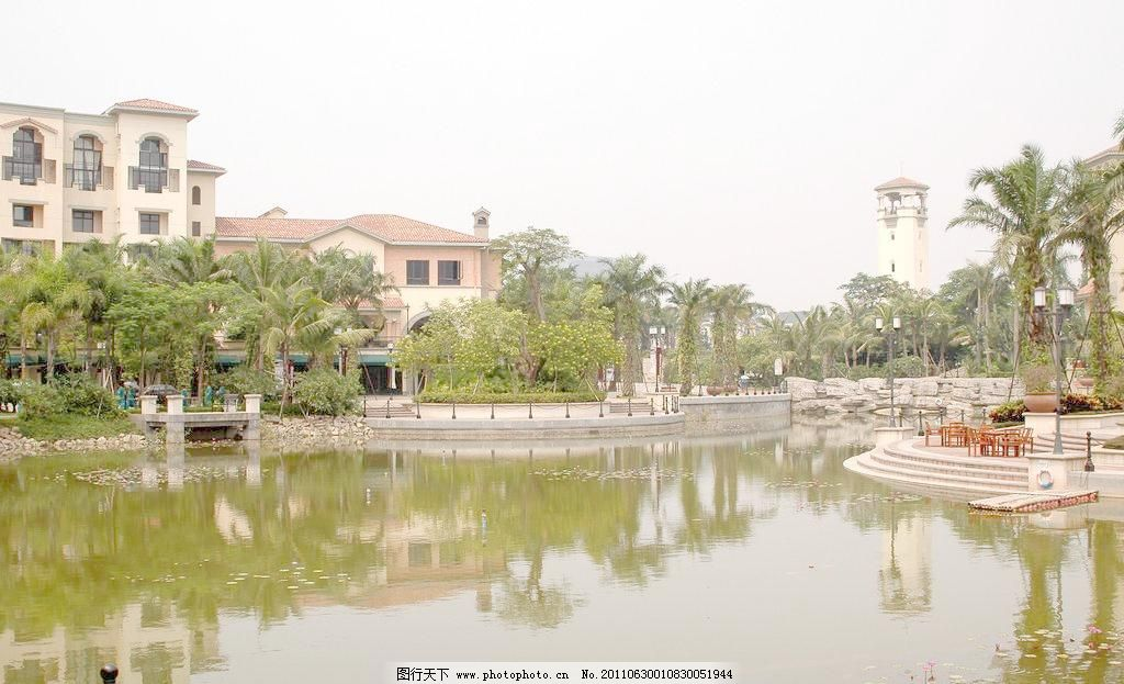 欧式别墅景观水池