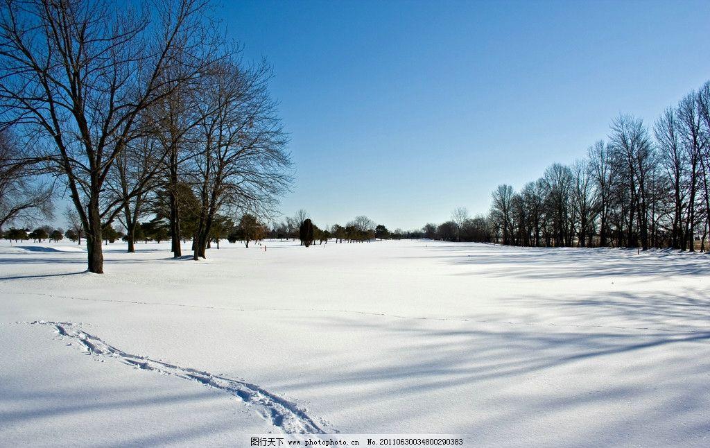 风光摄影 冬季景色 冬季风光 冬天美景 冬天 冬季 积雪 蓝天 树木